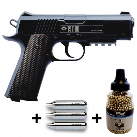 Pack pistolet à billes Crosman 1911BB + CO2 +...