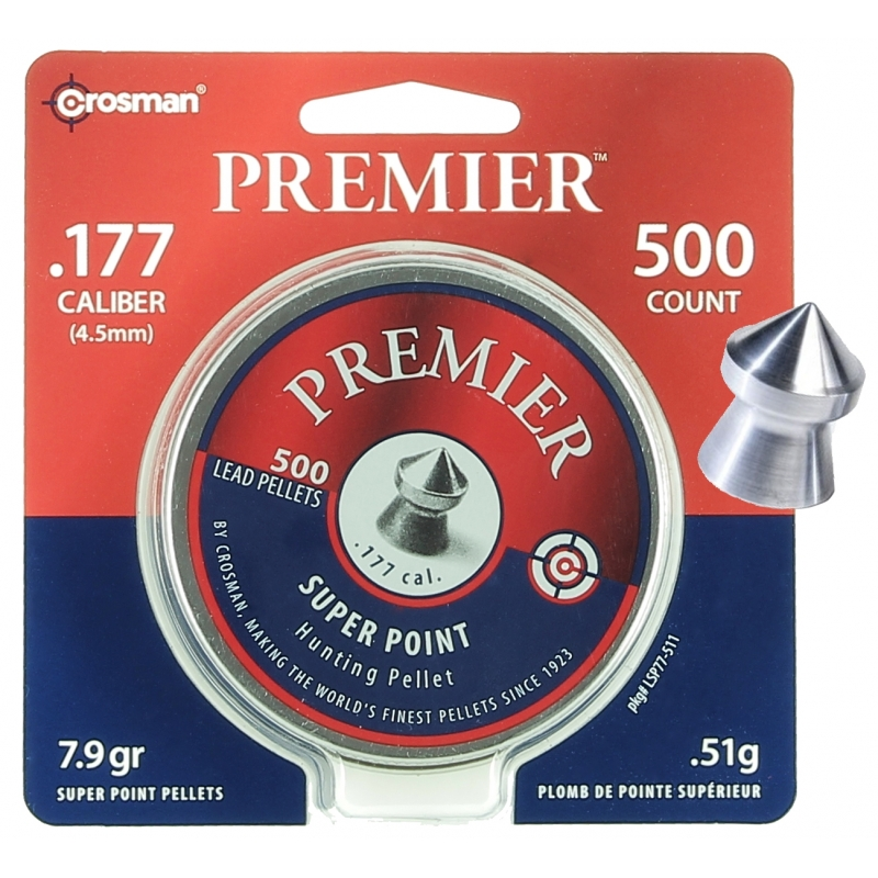 500 Plombs pointus Crosman PREMIER 4.5mm (.177)