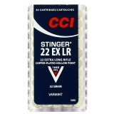 Cartouches CCI 22 long rifle Stinger x50