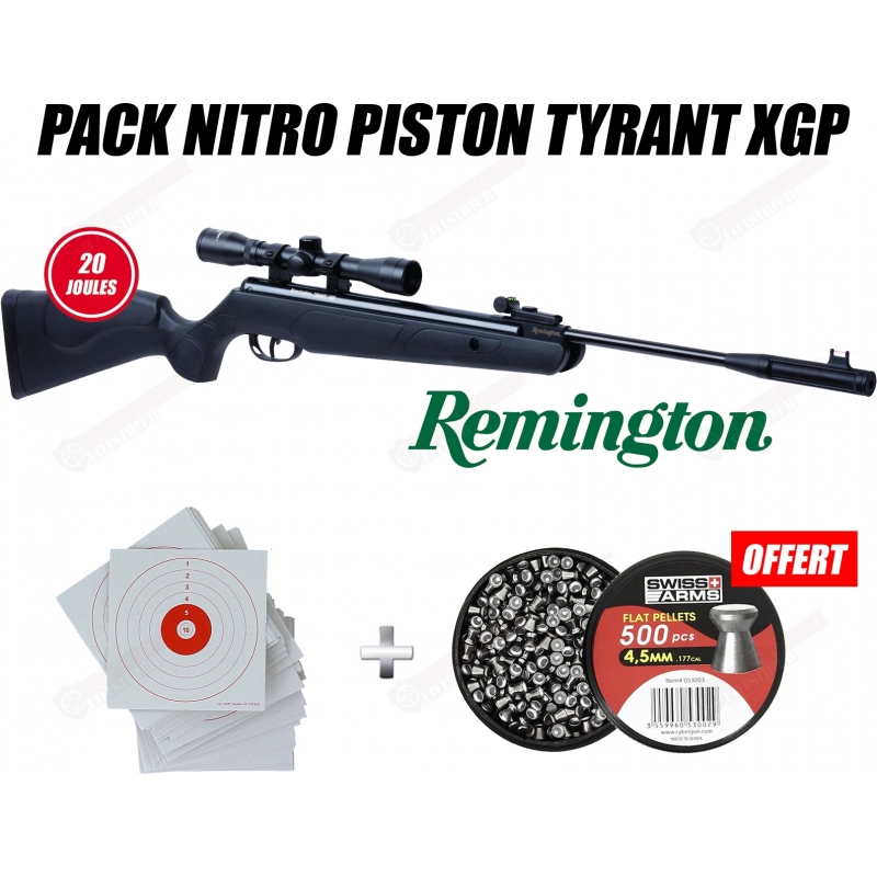 Pack carabine Remington Nitro piston Tyrant XGP 4.5mm (20 joules)