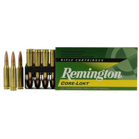 20 Cartouches Remington Core-Lokt 7mm-08 140 gr