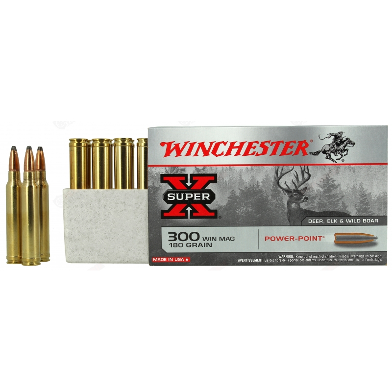 20 cartouches winchester super X 300 win mag (1231 joules)