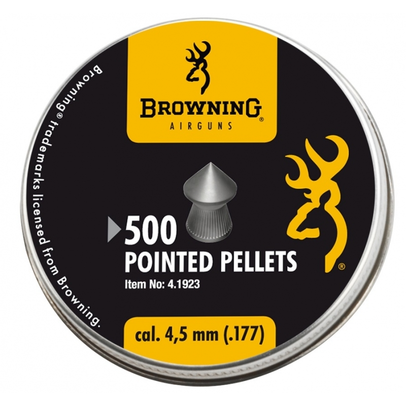 500 Plombs pointus Browning 4.5mm 8.64gr