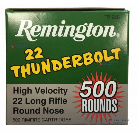 Cartouches Remington 22lr High Velocity Thunderbolt...