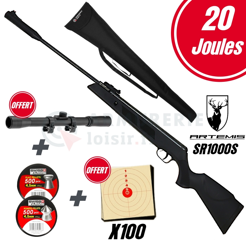 Pack ARTEMIS SR1000S Nitro Piston 4.5mm (20 joules)