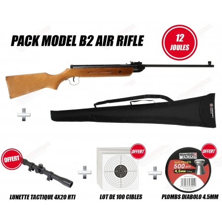 Pack carabine Air rifle B2 (12 joules)