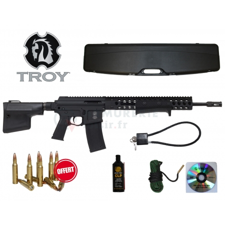 Pack carabine à pompe Troy Pump Action Rifle .222 Rem