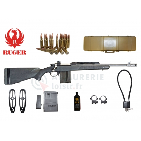 Pack carabine Ruger Gunsite Scout crosse...