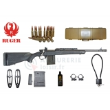Pack carabine Ruger Gunsite Scout crosse synthétique noir cal .308 Win