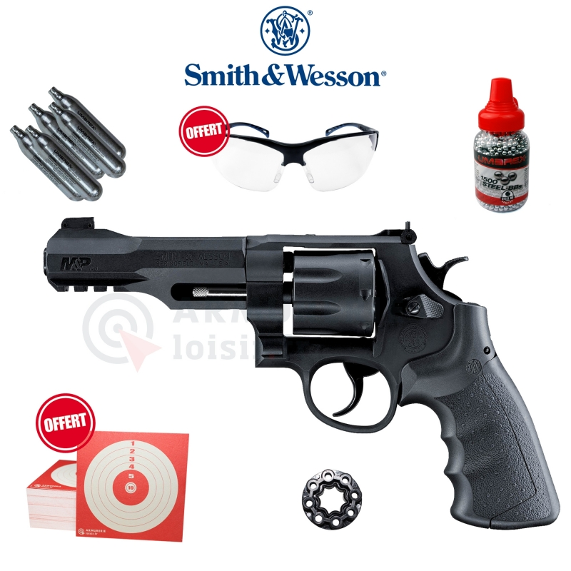 Revolver à bille d'acier Smith & Wesson M&P R8 - 4.5mm (3 Joules)