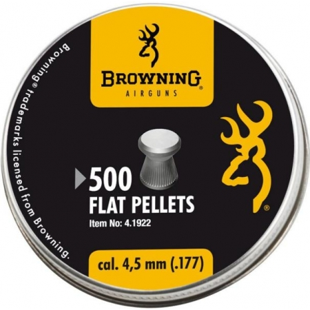 500 Plombs plats à jupe Browning 4.5mm