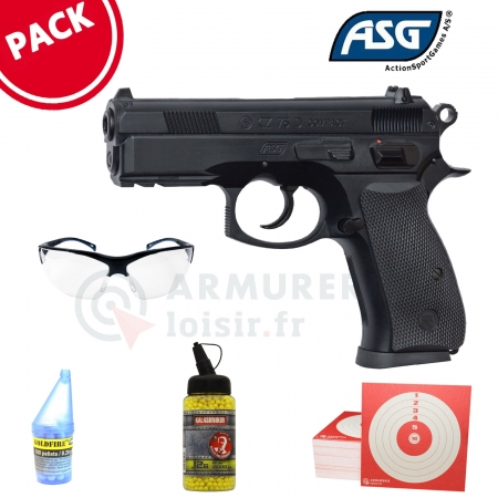 Pack Pistolet ASG CZ 75D Compact 6mm BB's (0,4 Joules)
