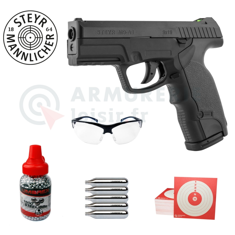 Pack ASG Steyr Mannlicher M9 A1 4.5mm CO2 (3,3 joules)