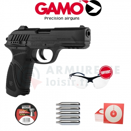 Pack GAMO PT 85 Blowback Semi-Auto CO2 4.5mm (3.5...