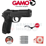 Pack GAMO PT 85 Blowback Semi-Auto CO2 4.5mm (3.5 Joules)