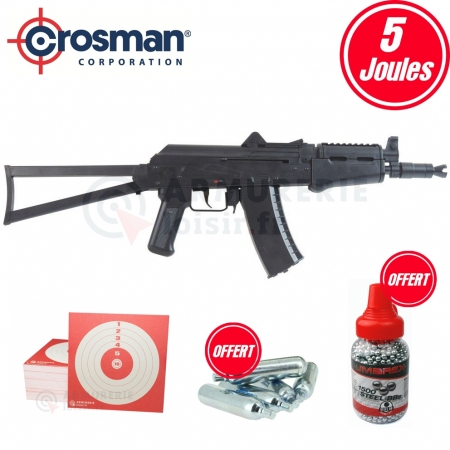 Pack carabine Crosman Comrade AK CO2 Rifle (5 joules)