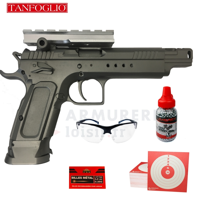 Pistolet KWC Tanfoglio Gold Custom CO2 4.5mm (1.5 joules)