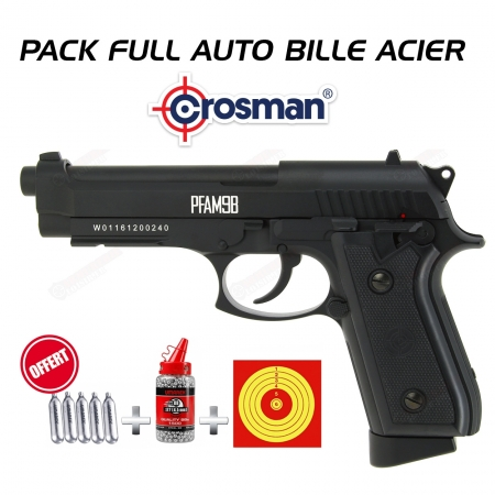 Pistolet Crosman FULL AUTO PFAM9B CO2 Blowback (2.6...