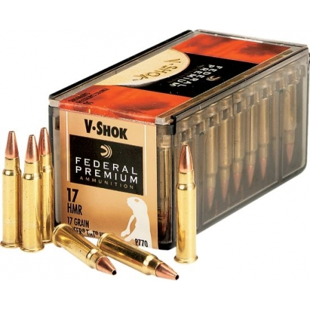 50 munitions 17 HMR 17 Grain TNT HP Fédéral Premium