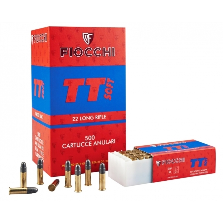 50 munitions Fiocchi TT Soft 22 LR 40Gr