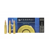 20 munitions Federal.222 Power Shok 50 grains SP