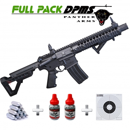 Pack Carabine Crosman DPMS SBR Full Auto 4.5 mm 3.5...
