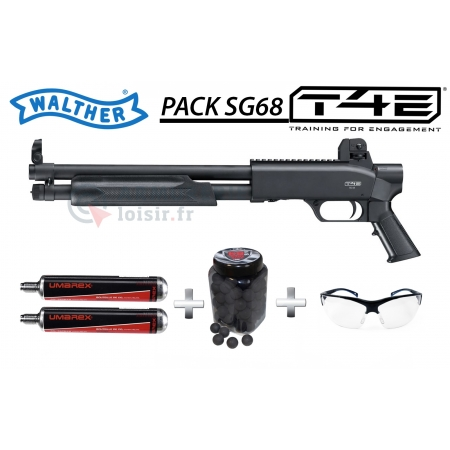 Pack Fusil à pompe Walther SG68 T4E (16joules)