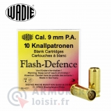 10 cartouches Wadie Flash Defence calibre 9 PAK