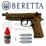 Pack Umarex Beretta M9A3 FDE 4.5 mm BB