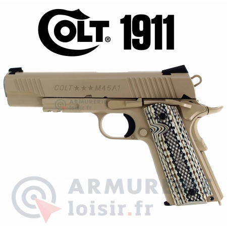 Pistolet COLT Rail Gun Tan CO2 6 mm BBS 1.4 Joules
