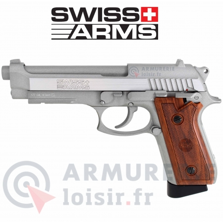 Pistolet Swiss Arms SA92 Stainless 4.5 mm BB (1.6...