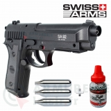 Pack Swiss Arms Beretta SA P92 4.5 mm BB'S (2,11 joules)