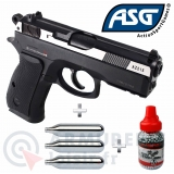 Pack pistolet ASG CZ 75 D Compact 4.5mm BB'S 2.7 joules