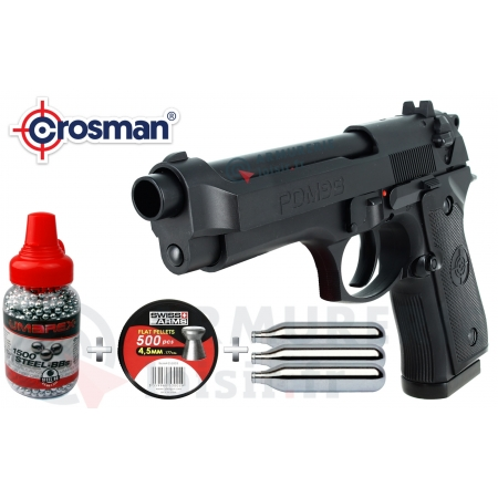 Pack pistolet Crosman PDM9B CO2 4.5 mm 2.6 joules