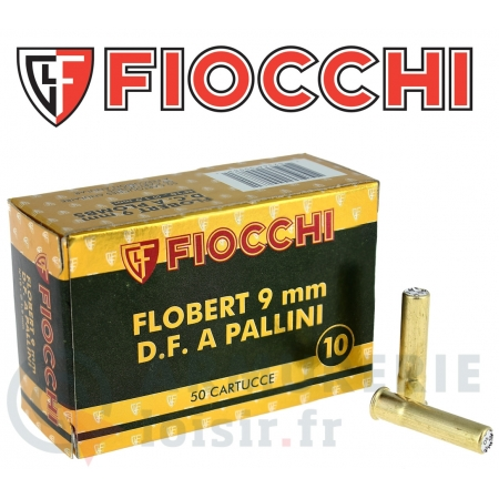 50 cartouches Fiocchi 9 mm Flobert plomb n°10