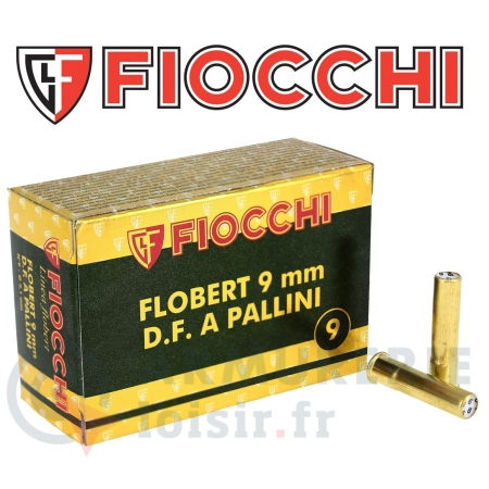50 cartouches Fiocchi 9 mm Flobert plomb n° 9
