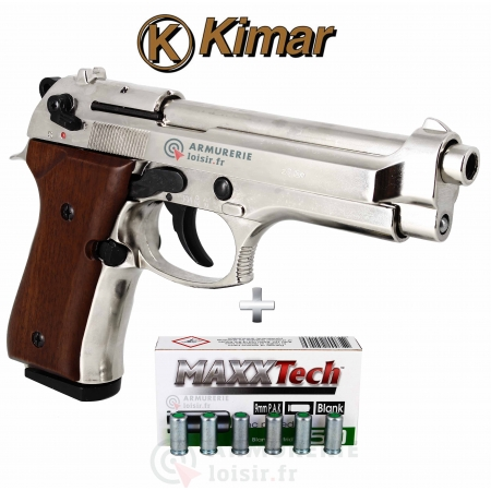 Pack Pistolet Kimar 92 Auto Chrome 9 mm PAK...