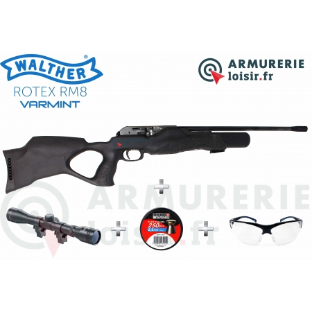 Pack Carabine Walther Rotex RM8 Varmint 5.5mm (30...