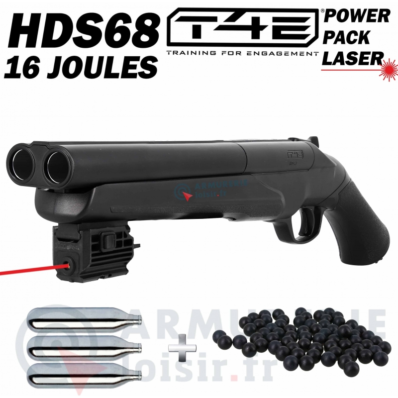 Pack Fusil Umarex HDS 68 Laser point rouge (16 joules)