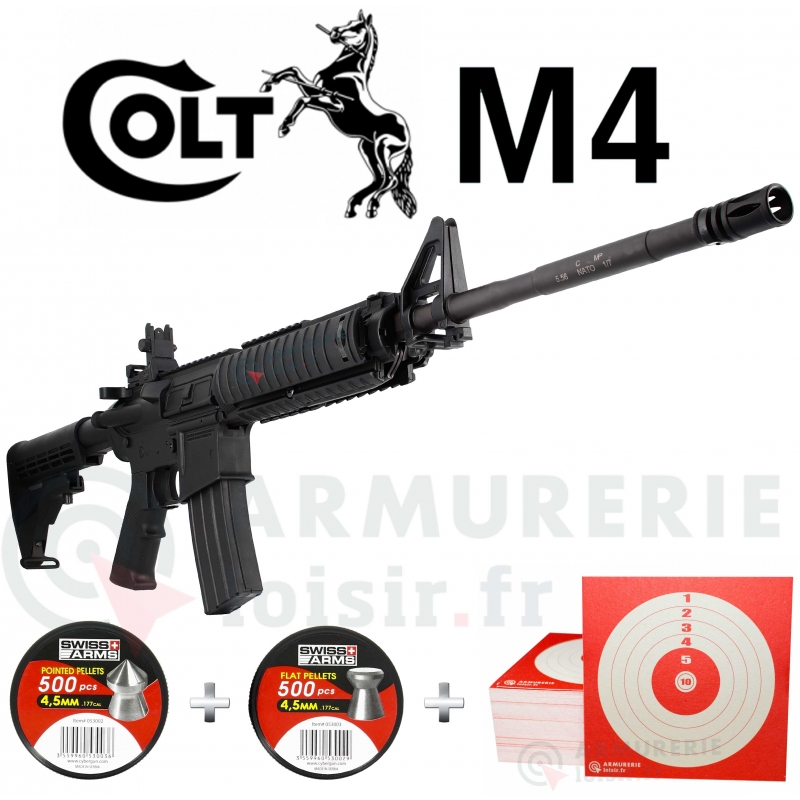 Pack Carabine Colt M4 4.5 mm (20 joules)