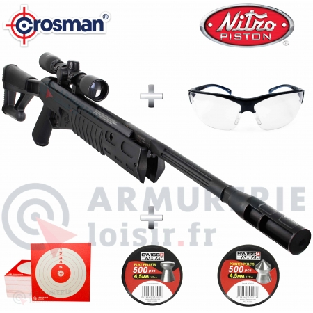 Pack carabine Crosman TR77 NPS 4.5mm (20 joules)