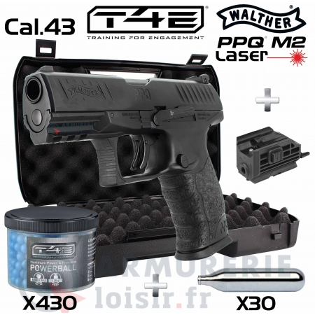 Maxi Pack Walther T4E PPQ M2 Laser  cal.43 (5 joules)