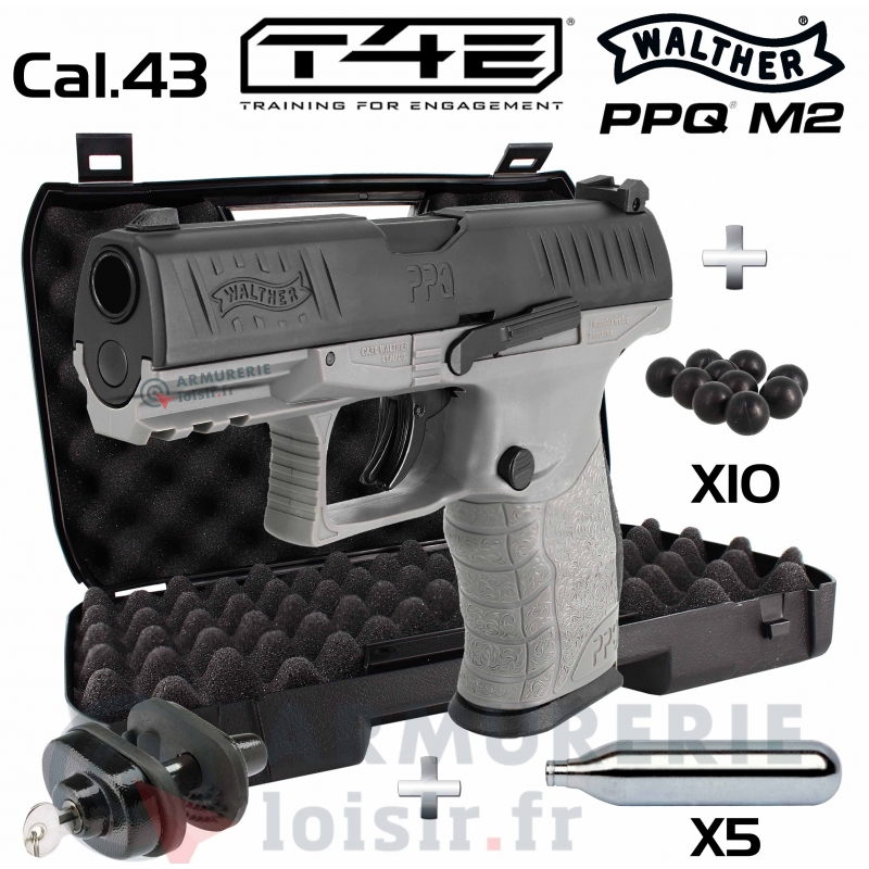 Pack Walther PPQ M2 T4E Tungsten Gray .43 (5 Joules)