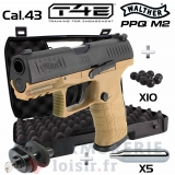 Pack Umarex Walther PPQ M2 T4E Tan .43 (5 joules)