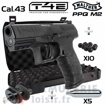 Pack PPQ M2 T4E CO2 Walther Cal.43 - Umarex (5 joules)