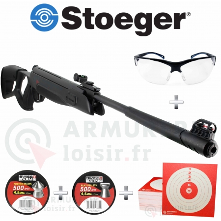 Pack carabine air comprimé Stoeger X3 TAC 4.5 mm