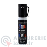 Bombe lacrymogène gel CS - 25 ml