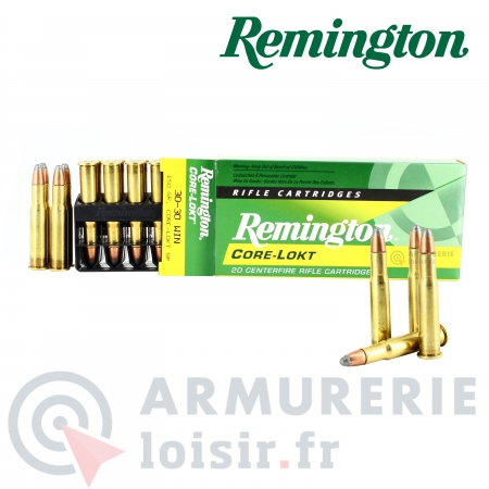20 Cartouches Remington Core-Lokt SP Cal.30-30 WIN...