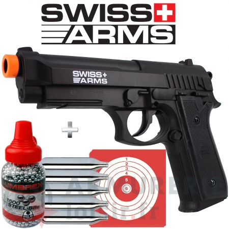 Pistolet CO2 Swiss Arms SA P92 (2.1 joules)