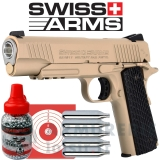 Pistolet Swiss Arms COLT SA1911 Military TAN CO2 4,5mm BB's (1.6 joules)